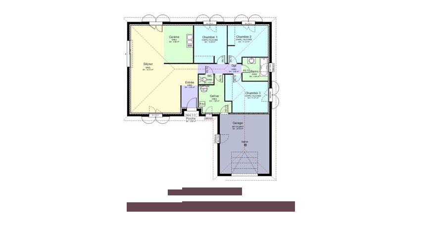 plan de maison bourg en bresse Habitat Libre