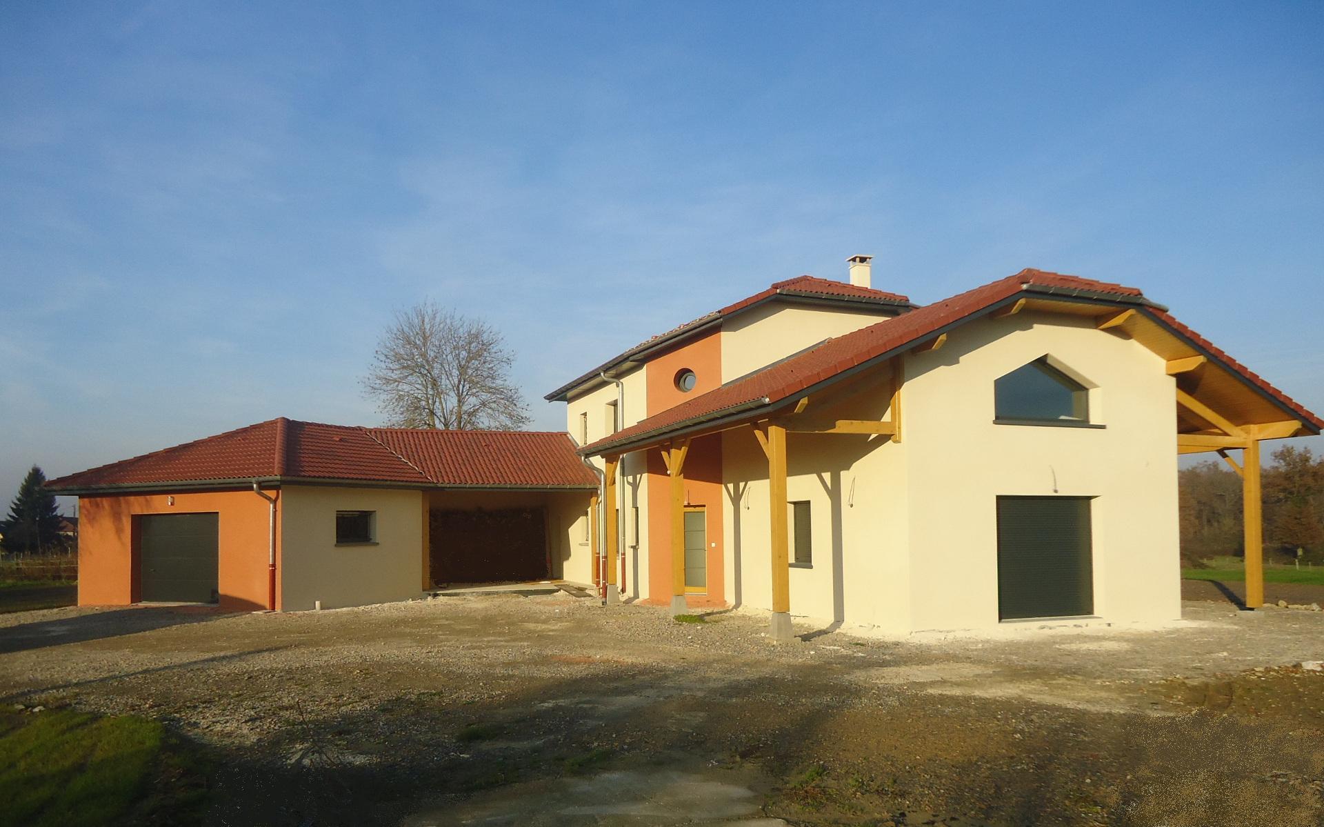 Construction maison étage Bourg en Bresse