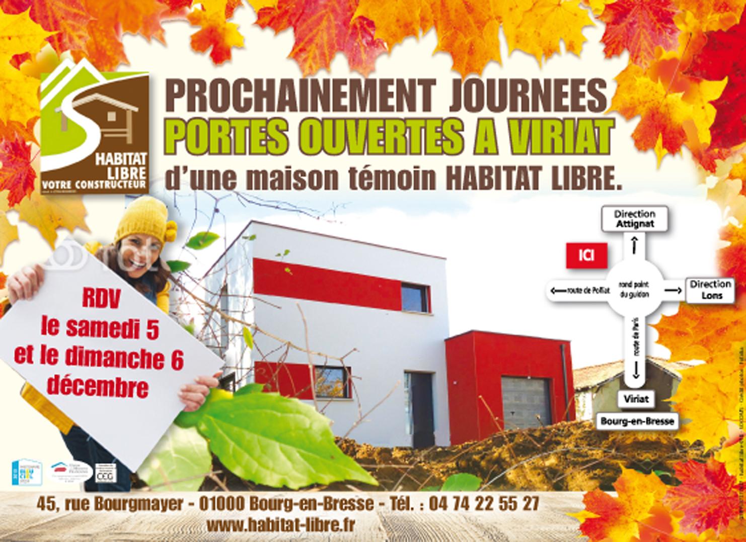 Porte ouverte constructeur maison viriat habitat libre for Porte ouverte constructeur