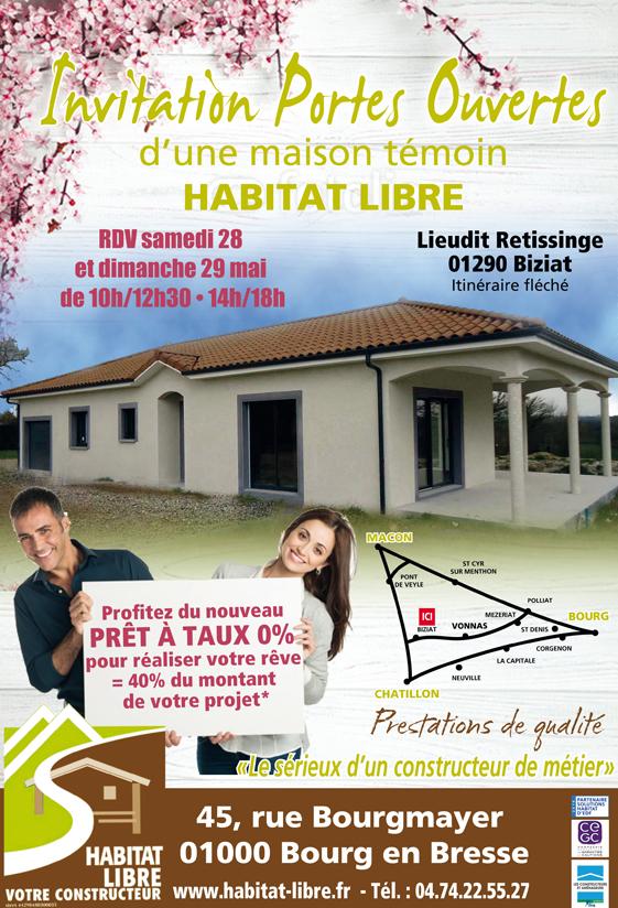Portes ouvertes constructeur maison biziat habitat libre for Porte ouverte constructeur